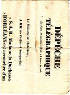 28199 - Naissance Duc De CHARTRES  1840 - Posters