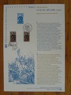 Document Officiel FDC 12-503 France Vatican Jeanne D'Arc Moyen Age Medieval Domermy 88 Vosges 2012 - Gemeinschaftsausgaben