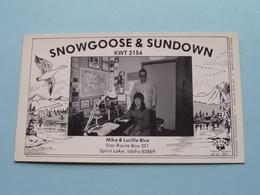 SNOWGOOSE & SUNDOWN KWT 2154 Spirit Lake IDAHO 83869 ( SUNDOWN ) Anno 19?? ( See Photos ) ! - Carte QSL