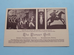 THE PIONEER GRILL George Washington HOTEL - Washington Penna () Anno 19?? ( See Photos ) ! - Washington DC