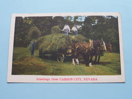 Greetings From CARSON CITY, NEVADA ( NYCE ) Anno 19?? ( See Photos ) ! - Etats-Unis