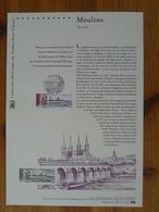 Document Officiel FDC 12-542 Cathédrale Notre-Dame Pont Bridge Arlequin Moulins 03 Allier 2012 - Bridges