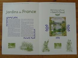 Document Officiel FDC 12-592 Parc De Saint-Cloud Jardins De France Bloc Salon Du Timbre 2012 - FDC