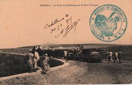 FEDALLA-LE TRAIN DE CASABLANCA SUR LE PONTPORTUGAIS - Autres