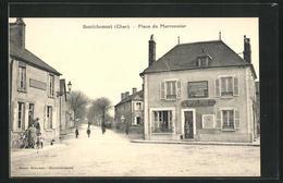 CPA Henrichemont, Place Du Marronnier, Vue De La Rue - Henrichemont