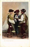 CPA Napoli Costumi Napolitani . ITALY (499116) - Napoli