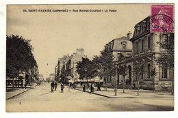Cpa N° 54 SAINT NAZAIRE Rue Amiral Courbet La Poste - Saint Nazaire
