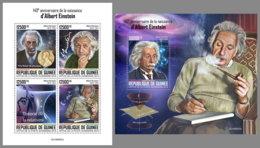 GUINEA REP. 2019 MNH 140. Birthday Albert Einstein M/S+S/S - IMPERFORATED - DH2005 - Albert Einstein