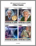 GUINEA REP. 2019 MNH 140. Birthday Albert Einstein M/S - IMPERFORATED - DH2005 - Albert Einstein