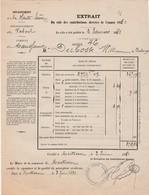 1881 / Facture Impôts Portes Et Fenêtres à Maussans 70 / Perception Montbozon - France
