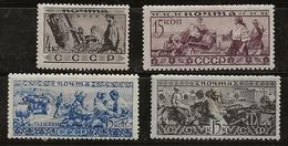 Russie 1933 N° Y&T :  479,490,491 Et 492 * - Neufs