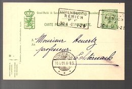 Train Cancel Lex-REMICH 1908 > Professeur Félix Huertz (920) - Postwaardestukken