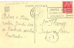 PARIS-80 RUE DUPIN OMec FLIER 1.IX 1931 GOUTEZ LE / NOUVEAU CIGARE / DIPLOMATE - Storia Postale