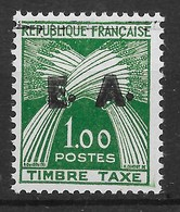 ALGERIE : SURCHARGE TYPO EA ETAT ALGERIEN D'ORAN TAXE N° 58 NEUF ** SANS CHARNIERE - Algérie (1962-...)