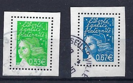 FRANCE 2004: 2 TP Tirés Du Bloc Y&T 67,  Avec Marge, Oblitérés - Blokken En Velletjes