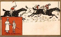 CHROMO CHAUSSURES NIL MELIUS BOURG  COURSE DE CHEVAUX - Trade Cards