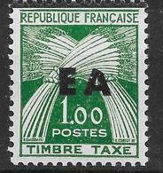 ALGERIE : SURCHARGE TYPO EA ETAT ALGERIEN DE TIZI OUZOU TAXE N° 58 NEUF ** SANS CHARNIERE - Algérie (1962-...)