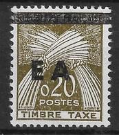 ALGERIE : SURCHARGE TYPO EA ETAT ALGERIEN DE TIZI OUZOU TAXE N° 56 NEUF ** SANS CHARNIERE - Algérie (1962-...)