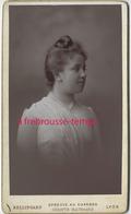 CDV Portrait De Femme De Profil- Photo Bellingard à Lyon - Photos