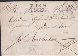 LETTRE DE LA CORREZE AVEC PP D 'USSEL LAC 1828 TB - Poststempel (Briefe)