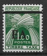 ALGERIE : SURCHARGE TYPO EA ETAT ALGERIEN DE TIZI OUZOU TAXE N° 58 NEUF * GOMME AVEC CHARNIERE - Algérie (1962-...)