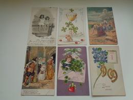 Beau Lot De 60 Cartes Postales De Fantaisie Gaufrées  Gaufrée       Mooi Lot Van 60 Postkaarten Van Fantasie Reliëf - Postkaarten