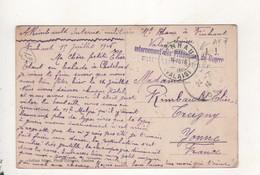 Cachet Internement Des Prisonniers De Guerre Finhaut Suisse - Storia Postale