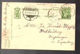 1907 TRASSEN > Hesperange Buchhandlung (930) - Postwaardestukken