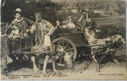 Belgio 02 - Bruxelles - Laitieres Flamandes 1906 - Monuments