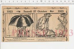 2 Scans Humour Tarifs Postaux Franchise Carte Postale Illustrée Aquarelliste Parapluie Chien Basset Mendicité 222R1 - Vieux Papiers