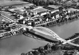SAINT-GERVAIS - Vue Aérienne - Le Pont Sur L'Isère - Philatélie Cachet En Pointillés - Frankreich
