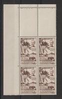 Madagascar 1946 Rattachement à La France 319 En Bloc De 4 Coin De Feuille ** MNH - Nuevos