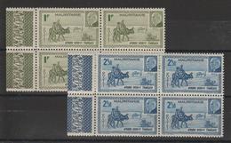 Mauritanie 1941 Pétain 123-124 En Bloc De 4  ** MNH - Nuevos
