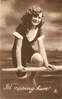 """Pretty Sport Girl. A Good Time!"" Tuck Hand Coloured Photogravure PC # 4249 - Tuck, Raphael"