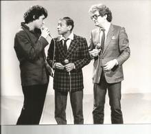 PHOTO PRESSE TF1 ; JULIEN CLERC  HENRI SALVADOR EDDY MITCHELL 21 JANVIER 1983   Photographe  C. JAMES - Célébrités