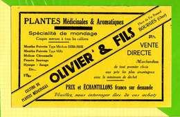 BUVARD & Blotting Paper  : Pharmacie Plantes Medicinales OLIVIER  Bourges  (jaune ) - Produits Pharmaceutiques