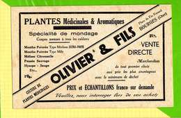 BUVARD & Blotting Paper  : Pharmacie Plantes Medicinales OLIVIER  Bourges  (ecru ) - Produits Pharmaceutiques