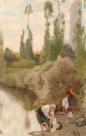 """Rustic Life. Women At Work"" Lot Of Three (3) Tuck Continental Art Series PC # 4105 - Tuck, Raphael"