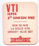 Bierviltje , Sous Bock - VTI - Ieper - Bier Wiel's - 1983 - Sous-bocks