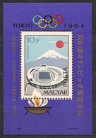 Hongrie Hongarije Ungarn 1964  Yvertn° Bloc 49 *** MNH Cote 10,00 Euro Sport Jeux Olympiques Tokyo - Blocs-feuillets