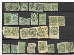 België  Wapenschilden Verschillende Afstempelingen - 1893-1907 Coat Of Arms