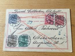 K8 Deutsches Reich Ganzsache Stationery Entier Postal P 53 Per Eilboten Von Ilmenau Nach München - Deutschland