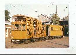DEPOT DE MARCQ EN BAROEUL 1976 (19183) ELECTRIQUE LILLE ROUBAIX TOURCOING MOTRICE  DES TRAMS EN MATERIEL DE SERVICE - Marcq En Baroeul