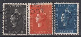 NEDERLAND - Michel - 1938 - Nr 318/20 - Gest/Obl/Us - Used Stamps