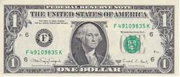 BILLETE DE ESTADOS UNIDOS DE 1 DOLLAR DEL AÑO 1988 A LETRA F ATLANTA CALIDAD EBC (XF) (BANK NOTE) - Billetes De La Reserva Federal (1928-...)