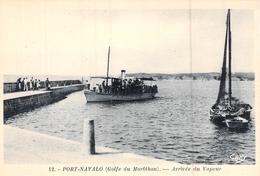 C P A [56] Morbihan  Bretagne  Port Navalo Arrivée Du Vapeur Et Passagers - Arzon