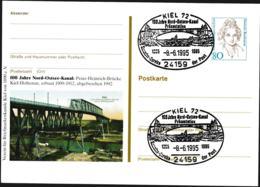 Germany Postal Stationary Bedeutende Frauen W/print 100 Jahre Nordostseekanal - Used (G109-46) - [7] Federal Republic