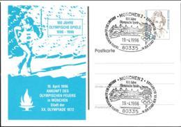 Germany Postal Stationary Bedeutende Frauen W/print 100 Jahre Olympische Spiele 1896-1996 - Used - [7] Federal Republic