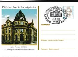 Germany Postal Stationary Bedeutende Frauen W/print 150 Jahre Post In Ludwigshafen - Used (G109-46) - [7] Federal Republic