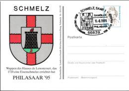 Germany Postal Stationary Bedeutende Frauen W/print Philasaar 95 - Used (G109-46) - [7] Federal Republic